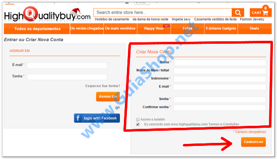 tutorial comprar no site chinês HighQualityBuy