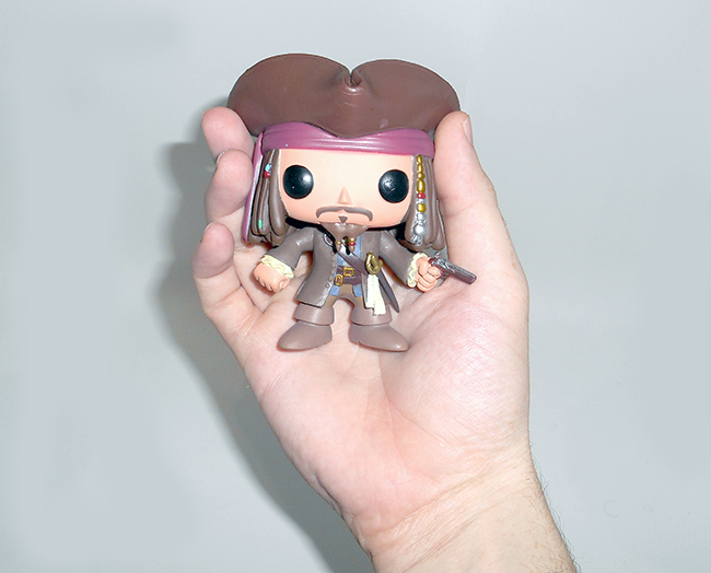 Boneco Funko Pop Jack Sparrow comprado na Amazon com envio direto para o Brasil