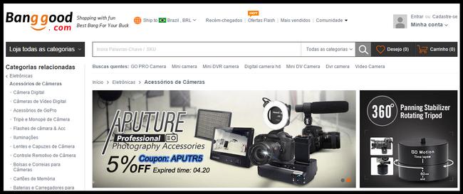 equipamentos fotográficos direto da China