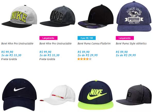 Adidas, Biggyboyz, Calvin Klein, Cavalera, Classic Hats, Coca-Cola, Colcci, Diesel, Lacoste, Levi's, Timberland...