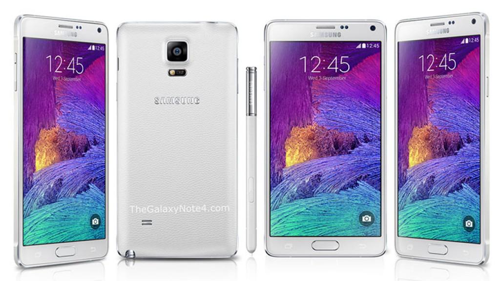 smartphones com as melhores baterias: Galaxy-Note-4
