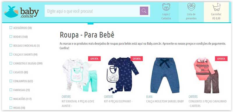 roupas de bebê