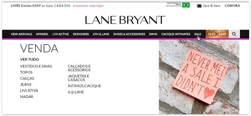 Lane Bryant – Moda plus size direto dos Estados Unidos